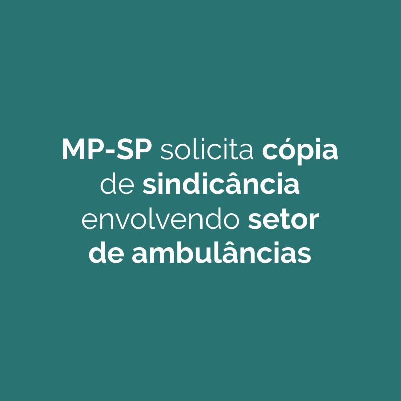 Ministério Público solicita cópia de sindicância envolvendo setor de ambulâncias