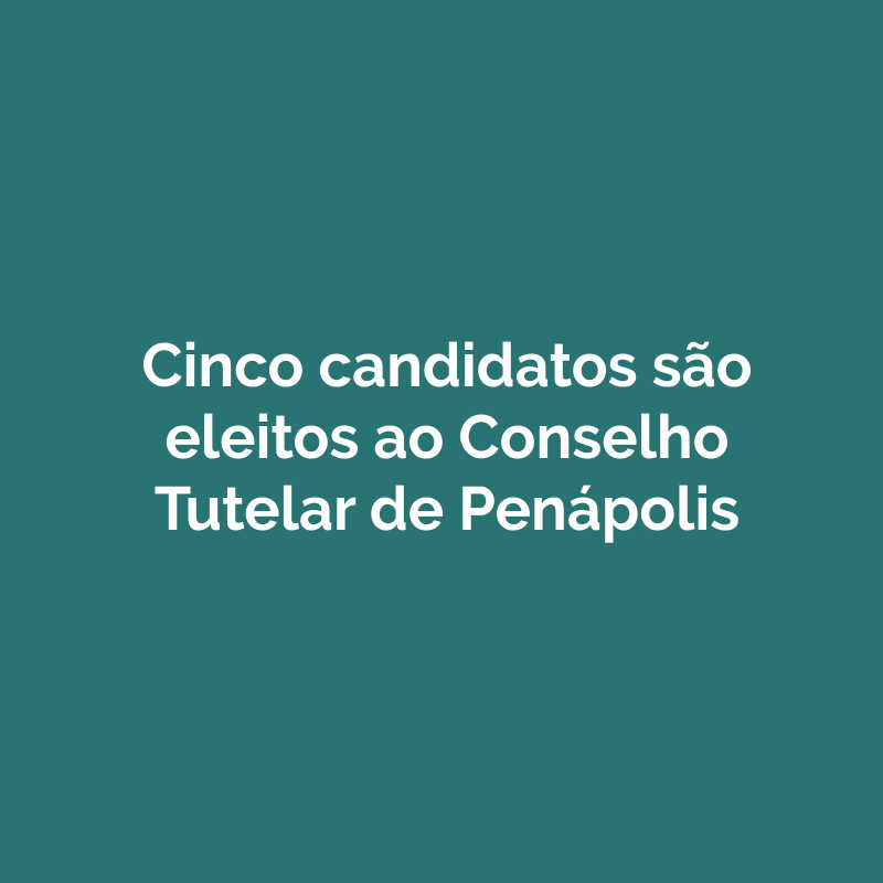 Cinco candidatos são eleitos ao Conselho Tutelar de Penápolis