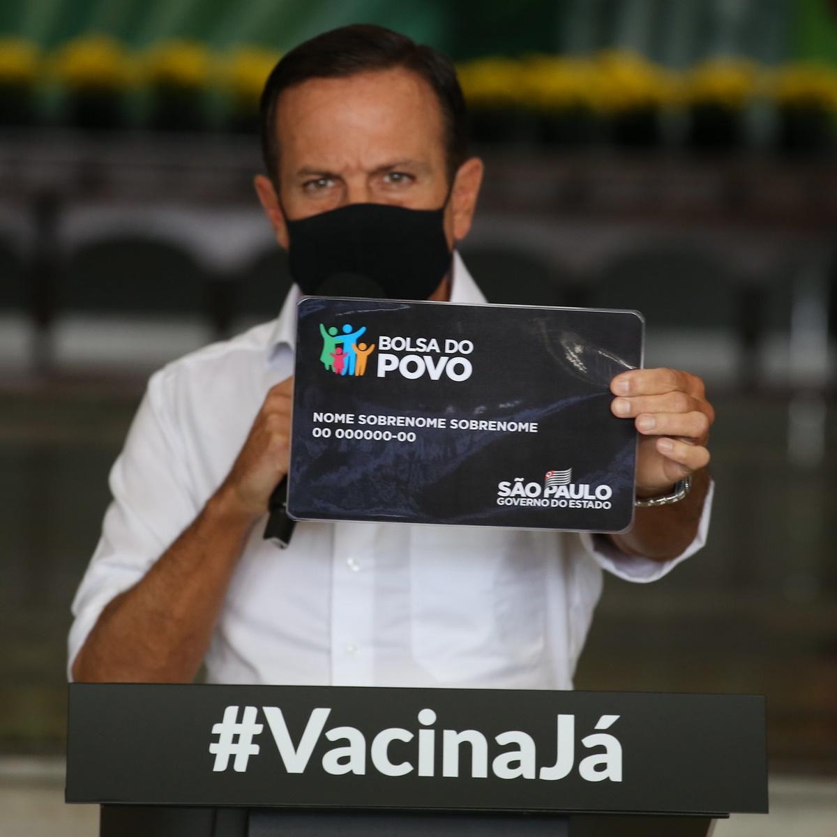 Governador João Dória unifica programas sociais e cria o Bolsa do Povo